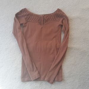FREE PEOPLE INTIMATELY RIBBED SEXY TOP NUDE M/L